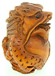 Hand Carved Boxwood Sculpture