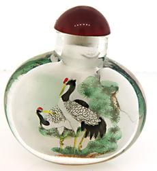 Hand Painted Peking Glass Snuff Bottle