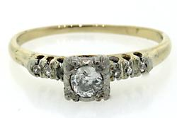 Vintage Diamond Ring, 14K