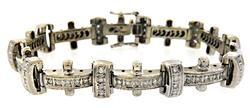 Superb 2.25ctw Gents Diamond Bracelet, 14kt