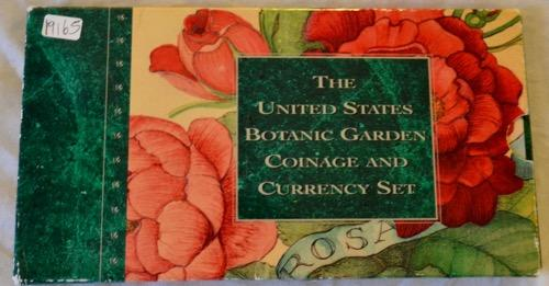 1997 Botanical Garden Coin& Currency Set with Rare Jefferson 5C Special Unc