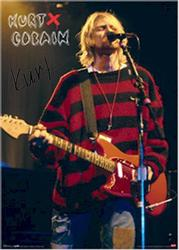 Nirvana Signed Facsimile Kurt Cobain Red Sweater Poster