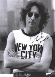 Beatles Signed Facsimile John Lennon New York City Sleeveless Poster
