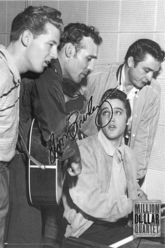 Elvis Johnny Cash Jerry Lee Lewis Carl Perkins Signed Facsimile Poster