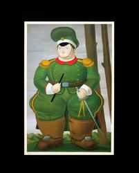 FERNANDO BOTERO OFFSET LITHOGRAPH, THE FIELD MARSHALL