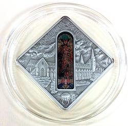 Palau 2012 $10 Holy Windows Augsburg Cathedral 50g Coin