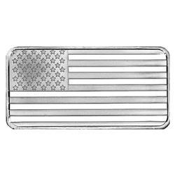 SilverTowne 10 oz Silver Bar Flag Design