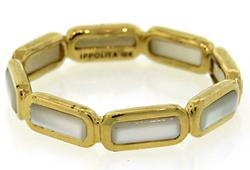 18kt Gold Mother of Pearl Ippolita Eternity RIng