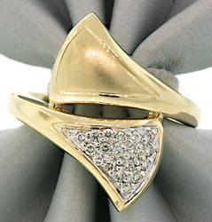 Sonia B Bypass Ring with Diamonds