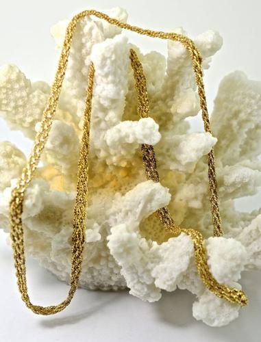 Elegant 24 Inches Woven 14k Necklace