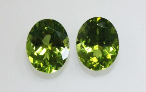 Sparkling Natural Peridot Pair