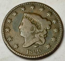 1829 Large Letters Large Cent