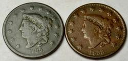 1833 and 1835 Large Cents