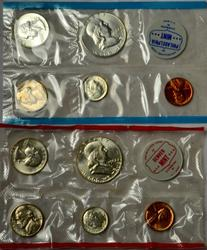 1962 US Mint 10 Coin Mint Set with no Original Envelope