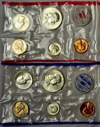 1961 US Mint 10 Coin Mint Set without Original Envelope