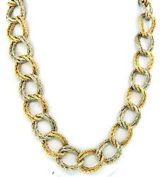 Must Have! Spectacular! 18K Two Tone HEAVY Chain
