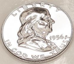 Exceptional Gem Proof 1956 Franklin Half Dollar!