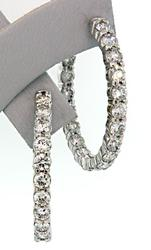 Stunning Quality 4+ctw Diamond In & Out Earrings