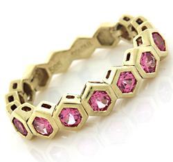 Sonia B Pink Topaz Flex Ring