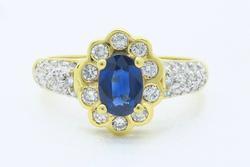 Diamond & Sapphire Ring in 18k