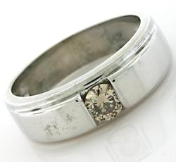 Gents Chocolate Diamond Solitaire Band, 14K