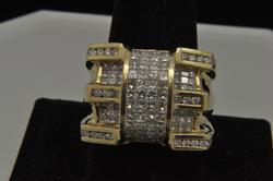 Gents 14kt Gold 3ctw Diamond Ring, Great Quality