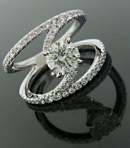 Gabrial & Co Contemporary Style Diamond Ring