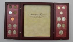 27 Coins - American Coins of the 20th Century Type Set Wood Box w/ COA