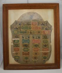 Framed Shield Design Fractional Currency Collection