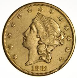 1861 $20Liberty Gold Double Eagle - Circulated