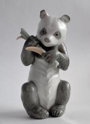 Retired Nao Lladro Glazed Porcelain Panda Figure