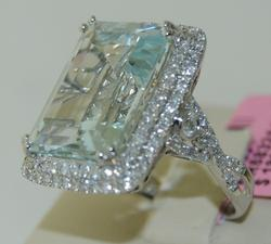 Similar to Princess Diana's Aquamarine & Diamond Ring