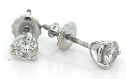 Crisp Diamond Stud Earrings, Certified