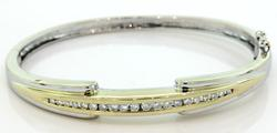 Terrific Diamond Bangle Bracelet