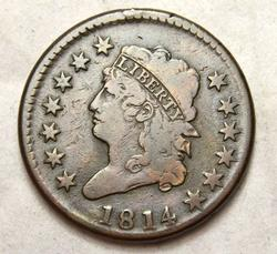 1814 Classic Head Large Cent CR 4