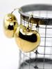 Wonderful 14K Puffed Heart Earrings
