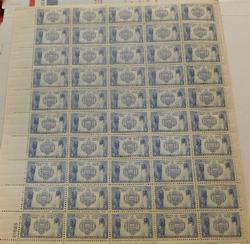 1930's Military Stamps Series stamp sheets - Navy $7.50