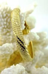 Reflective 14K Flex Bangle Bracelet