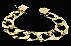 14K Yellow Gold Men's Link Bracelet, 3.7.7 grams