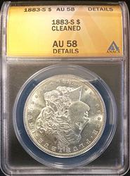 1883-S Certified Morgan Silver Dollar ANACS AU58