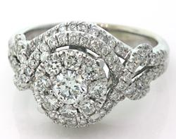 Double Halo Diamond Cluster Ring