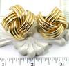 Beautiful 14K Geometric Ridged Earrings