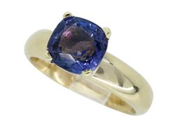 Gorgeous & Vivid 14kt Gold Color Change Gemstone Ring