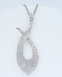 14K White Gold .65CTW Diamond Necklace