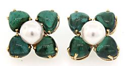 Fabulous Tourmaline & Diamond Jackets w/ Pearls