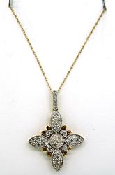 Yellow Gold Diamond Filagree Necklace