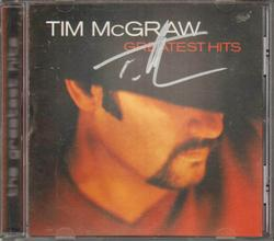 Tim McGraw Signed Greatest Hits Cd Cover