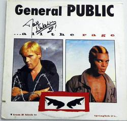 General Public All The Rage Dave Wakeling Autographed Record Alb