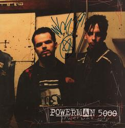 Powerman 5000 Autographed 2-Sided Signed x3 Album Lp Flat