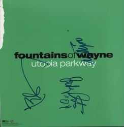 Fountains Of Wayne Autographed 2-Sided Signed x5 Album Lp Flat